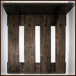 Деревянная вешалка для одежды в прихожую. Изготовление по Вашим размерам.